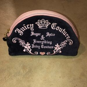 JUICY COUTURE pink and purple makeup bag